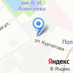 Енисей на карте Санкт-Петербурга