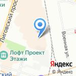 Скинали на карте Санкт-Петербурга