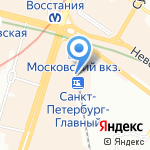 Штаб по организации отправления и встречи групп детей Московского вокзала на карте Санкт-Петербурга