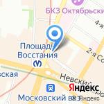 Отель-Сервис на карте Санкт-Петербурга