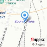 МАТИС на карте Санкт-Петербурга