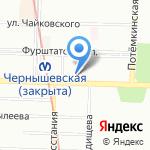 Студия причесок Дениса Осипова на карте Санкт-Петербурга