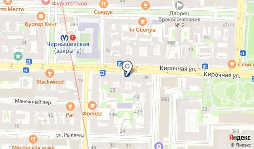 Архитектор красоты. Схема проезда в Санкт-Петербурге