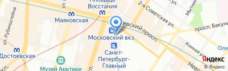 Банкомат Банк ВТБ 24 ПАО на карте Санкт-Петербурга