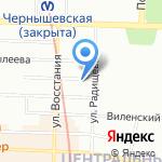 Подушка на карте Санкт-Петербурга