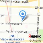 Чуланчик на карте Санкт-Петербурга