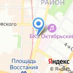 Магазин продуктов на карте Санкт-Петербурга