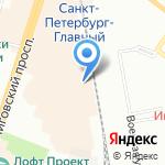 Работа-это проСТО на карте Санкт-Петербурга