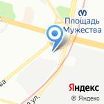 Батенинские бани на карте Санкт-Петербурга