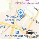 Кот Матроскинн на карте Санкт-Петербурга