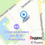 СДЮСШОР по легкой атлетике и фехтованию на карте Санкт-Петербурга