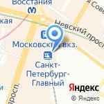 Экспресс-питание на карте Санкт-Петербурга