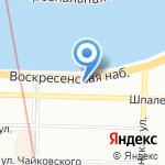 Петр Великий на карте Санкт-Петербурга