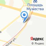 Аврора на карте Санкт-Петербурга