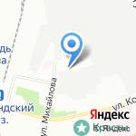 Михайловский на карте Санкт-Петербурга
