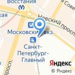 Кафе-бистро на карте Санкт-Петербурга