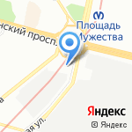 А1 на карте Санкт-Петербурга