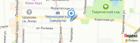 Аркадия на карте Санкт-Петербурга