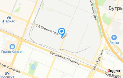 Местоположение на карте пункта техосмотра по адресу г Санкт-Петербург, пер 3-й Верхний, д 2