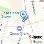 Гепард на карте Санкт-Петербурга