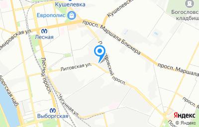 Местоположение на карте пункта техосмотра по адресу г Санкт-Петербург, ул Литовская, д 16