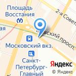 Штандарт на карте Санкт-Петербурга