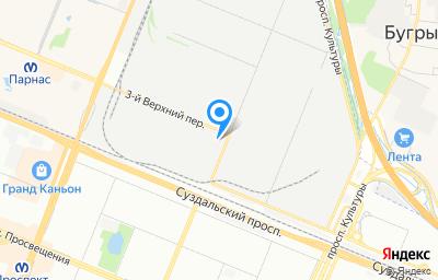 Местоположение на карте пункта техосмотра по адресу г Санкт-Петербург, пер 3-й Верхний, д 2 литер а