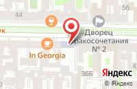 Схема проезда до компании Восточный Центр в Санкт-Петербурге
