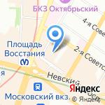 Управление Пенсионного фонда РФ в Центральном районе на карте Санкт-Петербурга