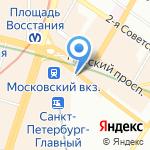 Эсма на карте Санкт-Петербурга