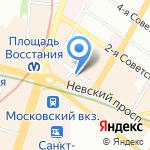 Беларусачка на карте Санкт-Петербурга