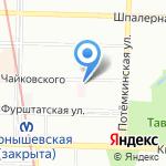Детская городская поликлиника №8 на карте Санкт-Петербурга