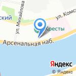 Кресты на карте Санкт-Петербурга