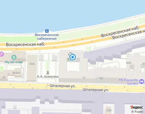 Товарищество собственников жилья «ТСЖ Набережная Робеспьера 12» на карте Санкт-Петербурга