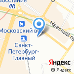 Москва на карте Санкт-Петербурга