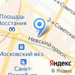 Чеширский кот на карте Санкт-Петербурга