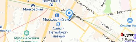SpbBong на карте Санкт-Петербурга