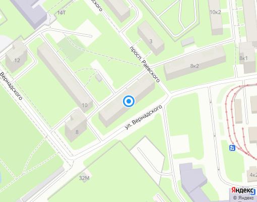 Жилищно-строительный кооператив «Фрунзевец» на карте Санкт-Петербурга