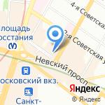 Компас на карте Санкт-Петербурга