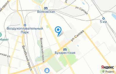 Местоположение на карте пункта техосмотра по адресу г Санкт-Петербург, ул Бухарестская, д 22 к 3 литер б
