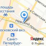 Бродвей на карте Санкт-Петербурга