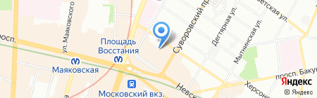 Сан энд Си на карте Санкт-Петербурга