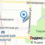 Ангел на карте Санкт-Петербурга