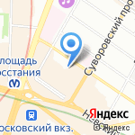 Берганс на карте Санкт-Петербурга