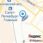 Октябрьская дирекция по управлению терминально-складским комплексом на карте Санкт-Петербурга