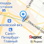 Аквамир на карте Санкт-Петербурга