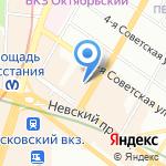 Нить Ариадны на карте Санкт-Петербурга
