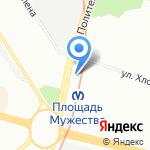Родент на карте Санкт-Петербурга