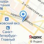 Депо на карте Санкт-Петербурга