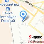 Санкт-Петербургское линейное МВД России на транспорте на карте Санкт-Петербурга